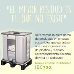 Envase sostenible IBC 300L