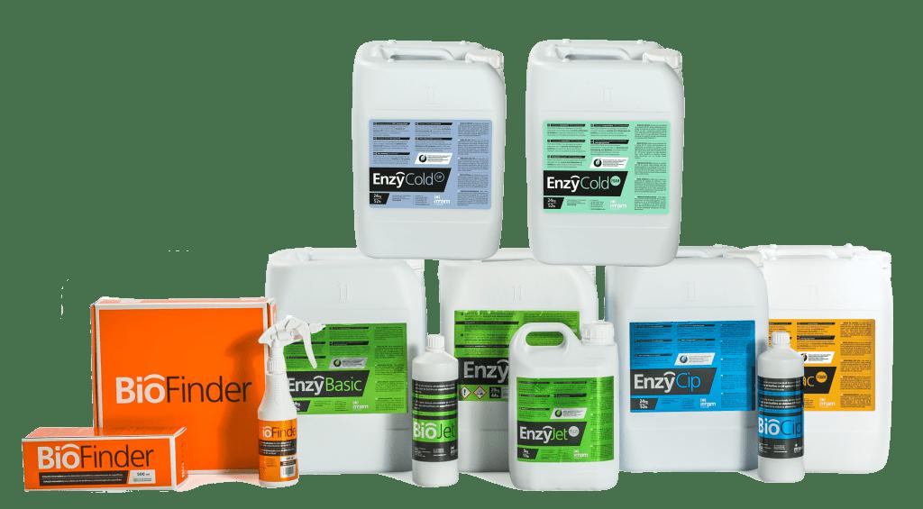 Gama productos para el control de biofilms en indústria alimentaria
