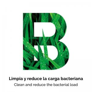 Limpia y reduce carga bacteriana con Brunet