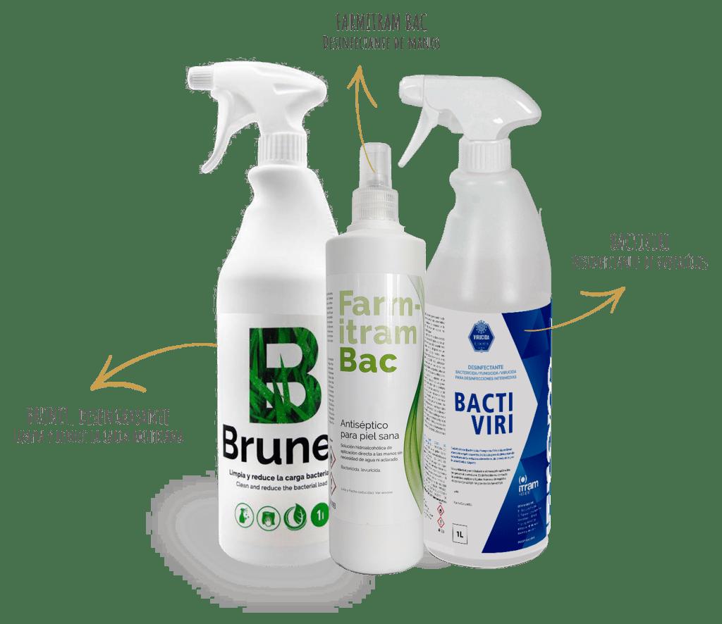 Brunet, Farmitram Bac y Bactiviri