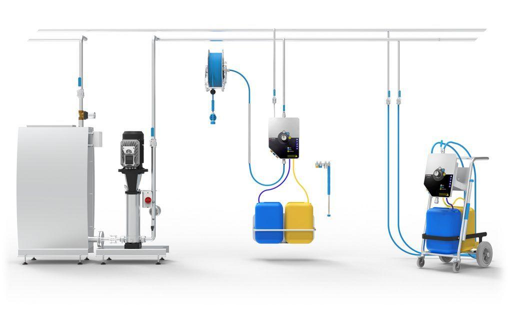 Sistema de limpieza descentralizado