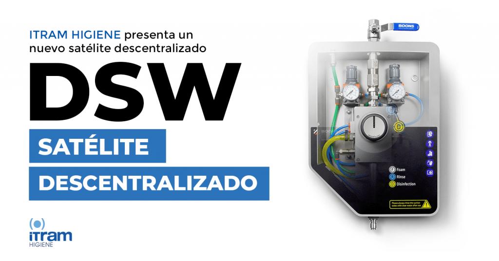 Satélite de limpieza descentrado DSW